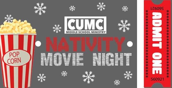 Middle School Nativity Movie Night